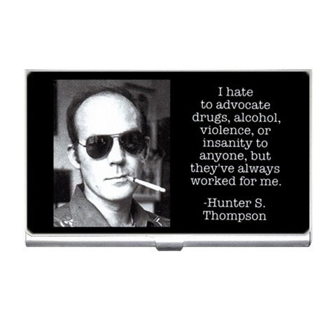 Hunter S Thompson Photo Quote Drugs Alcohol