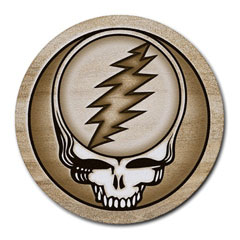 Mousepad (Round) : Grateful Dead - Steal Your Face - Sandstone