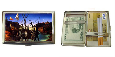 Salvador Dali - Swans Reflecting Elephants : Cigarette Case