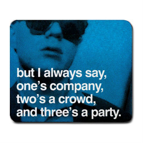 Andy Warhol Photo Quote Blue Mousepad Mouse Pad