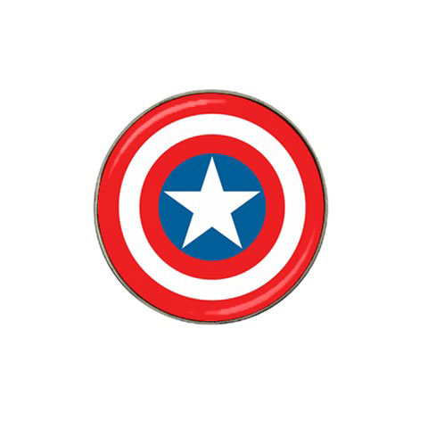 ball markers. golf ball marker : captain america shield markers