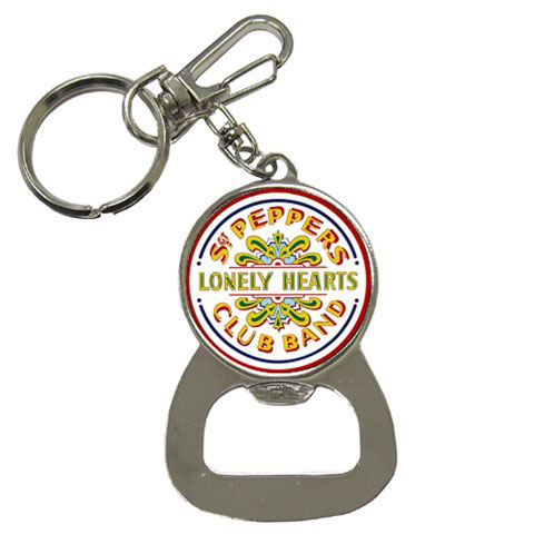 Bottle Opener Keychain : Beatles - Sgt  Pepper's Lonely Hearts Club Band