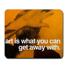 Mousepad : Andy Warhol - Photo Quote (Yellow)