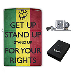 (Zippo Style) Lighter : Get Up, Stand Up