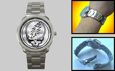 Wristwatch : Grateful Dead - Steal Your Face - Chrome