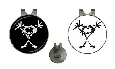 Golf Ball Marker Hat Clips : Pearl Jam - Stickman