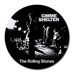 Mousepad (Round) : Rolling Stones - Gimme Shelter