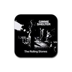 Square Rubber Coasters : Rolling Stones - Gimme Shelter