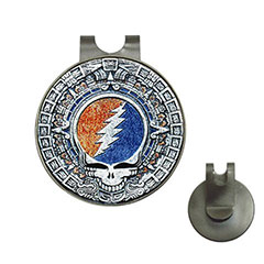 Golf Ball Marker Hat Clip : Grateful Dead - Aztec - Steal Your Face