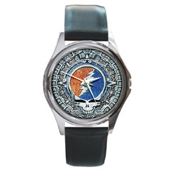 Round Metal Watch : Grateful Dead - Steal Your Face - Aztec
