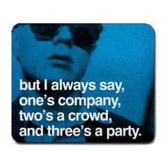 Mousepad : Andy Warhol - Photo Quote (Blue)