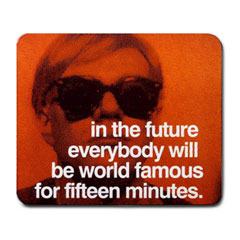 Mousepad : Andy Warhol - Photo Quote (Orange)