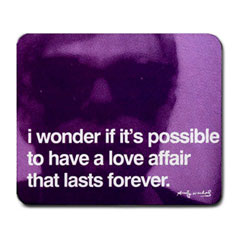 Mousepad : Andy Warhol - Photo Quote (Purple)