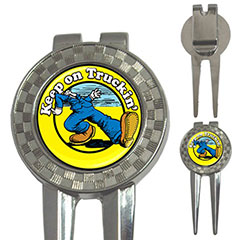 Golf Divot Repair Tool : Keep on Truckin'... by Robert Crumb