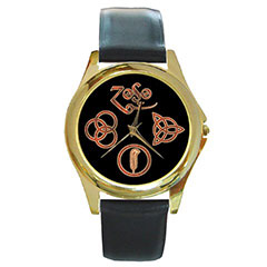 Gold-Tone Watch : Led Zeppelin Symbols