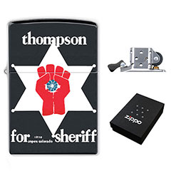Zippo Lighter : Hunter S. Thompson for Sheriff - Gonzo Fist