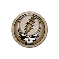 Coasters (4 Pack - Round) : Grateful Dead - Steal Your Face - Sandstone