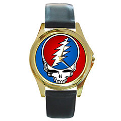 Round Gold-Tone Metal Watch : Grateful Dead - Steal Your Face