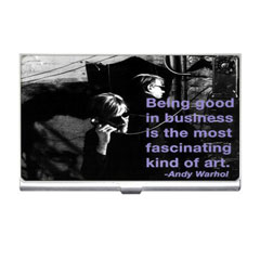 Card Holder : Andy Warhol - Photo Quote