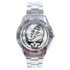 Sport Dial Watch : The Grateful Dead - Steal Your Face - Chrome