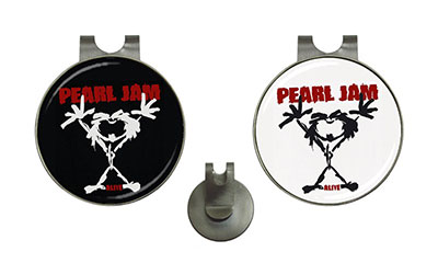 Golf Ball Marker Hat Clips : Pearl Jam - Stickman - Alive