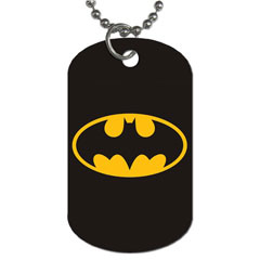 Dog Tag Pendant Necklace : Batman Shield