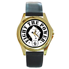 Round Gold-Tone Metal Watch : Public Enemy - Fight the Power