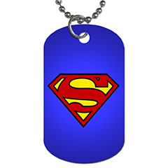 Dog Tag Pendant Necklace : Superman Shield