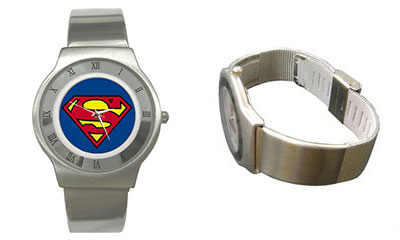 Roman Dial Watch : Superman Shield