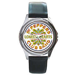 Round Metal Watch : The Beatles - Sgt. Pepper's Lonely Hearts Club Band