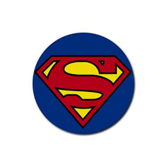 Coasters (4 Pack - Round) : Superman Shield