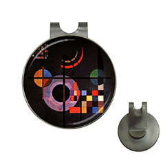 Golf Ball Marker Hat Clip : Wassily Kandinsky - Gravitation