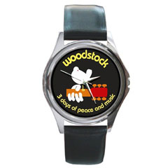Round Metal Watch : Woodstock - 3 Days of Peace and Music