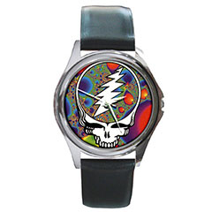 Round Metal Watch : Grateful Dead - Steal Your Face - Fractal