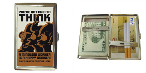 Cigarette Case : Futurama - You're Not Paid To Think!