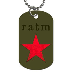 Dog Tag Pendant Necklace : RATM - Rage Against The Machine - Star