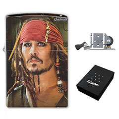 Zippo Lighter : Pirates of the Caribbean - Johnny Depp as Captain Jack Sparrow