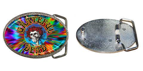grateful dead skull roses tie dye belt buckle. Black Bedroom Furniture Sets. Home Design Ideas