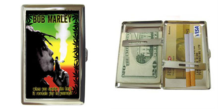 Cigarette Case : Bob Marley - Smoke The Herb
