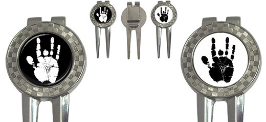 Golf Divot Repair Tool : Jerry Garcia Handprint