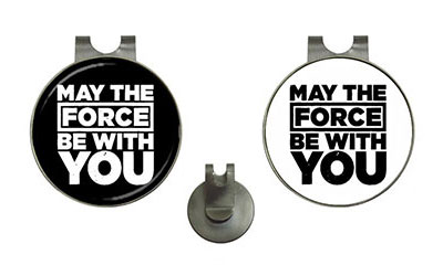 Golf Ball Marker Hat Clips : May The Force Be With You