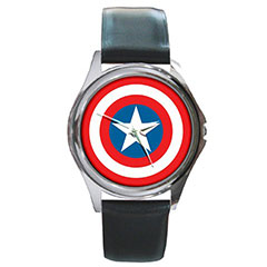 Round Metal Watch : Captain America Shield