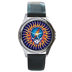 Round Metal Watch : Grateful Dead - Steal Your Face - Sun
