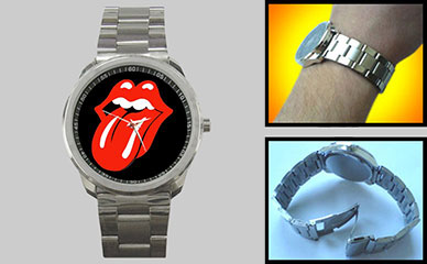 Sport Metal Watch : Rolling Stones - Tongue & Lips