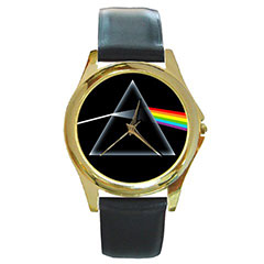 Round Gold-Tone Metal Watch : Pink Floyd - The Dark Side of the Moon