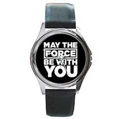 Round Metal Watch : Star Wars - May The Force Be With You