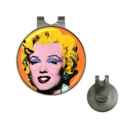 Golf Ball Marker Hat Clips : Marilyn Monroe by Andy Warhol
