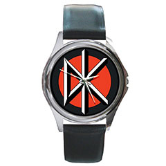 Round Silver-Tone Metal Watch : Dead Kennedys