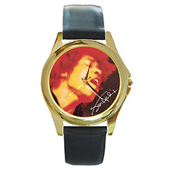 Round Gold-Tone Metal Watch : Jimi Hendrix - Electric Ladyland