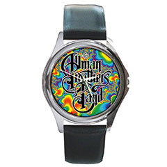 Round Silver-Tone Metal Watch : The Allman Brothers Band - Fractal